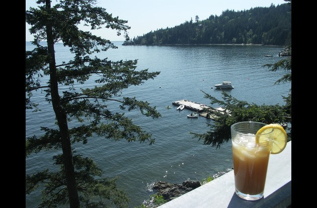 Iced Tea, Summer time Dock and summer is fun!