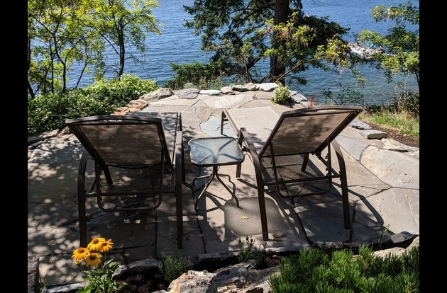 NEW - Cliff Side blue stone patio