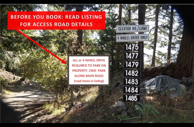 Before you book ~ read listing for access road details and options